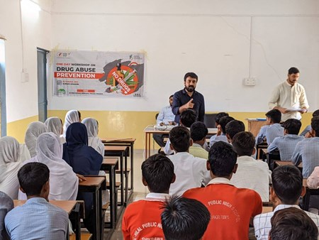MVT Conducts Workshop on Drug Abuse Prevention in Mewat, Haryana
